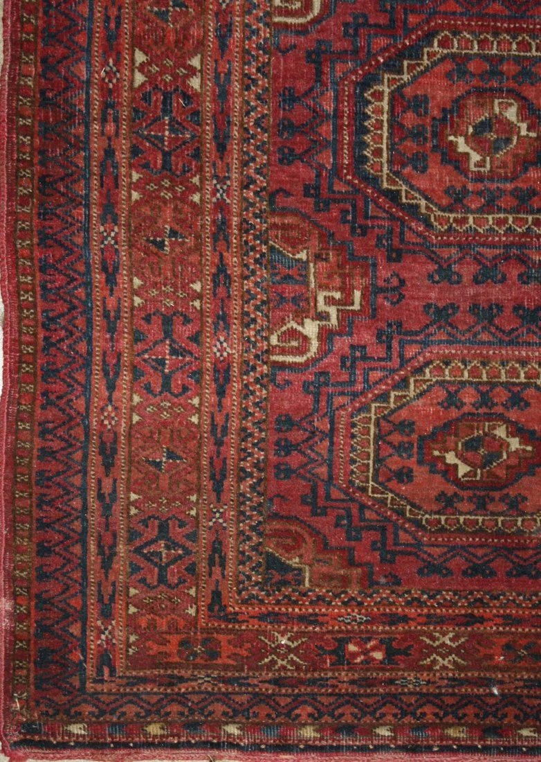 early 20th c Tekke Salor bagface with two rows of three - 3