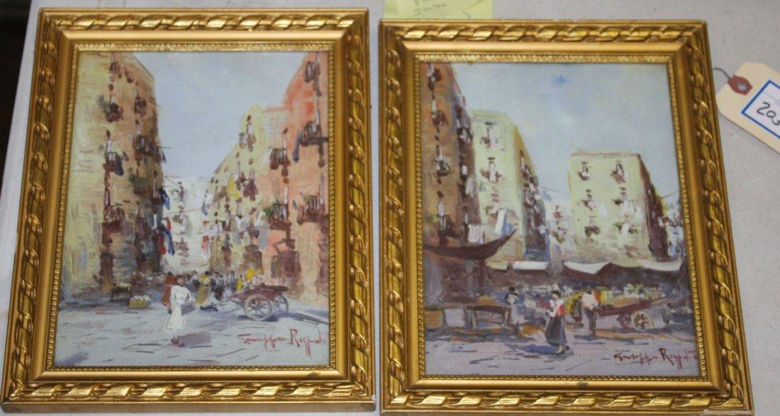 Giusppe Rispoli (Italian 1888-) Pair of Italian street