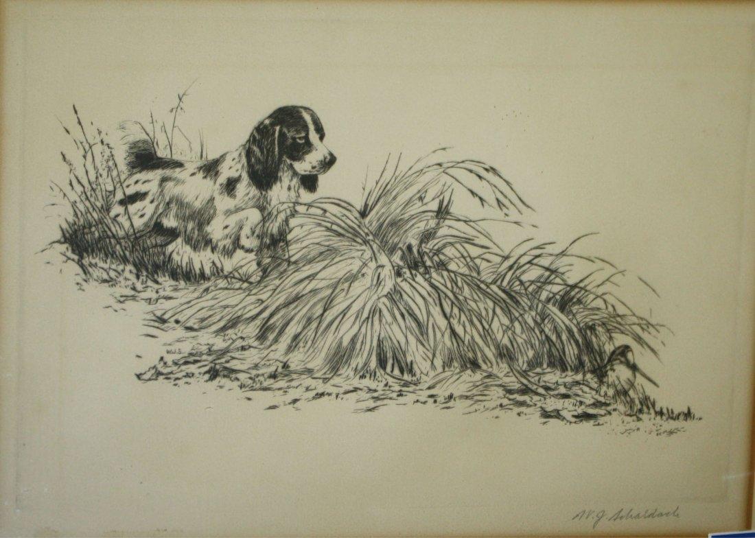 William J Schaldac (American 1896-1982) Spaniel