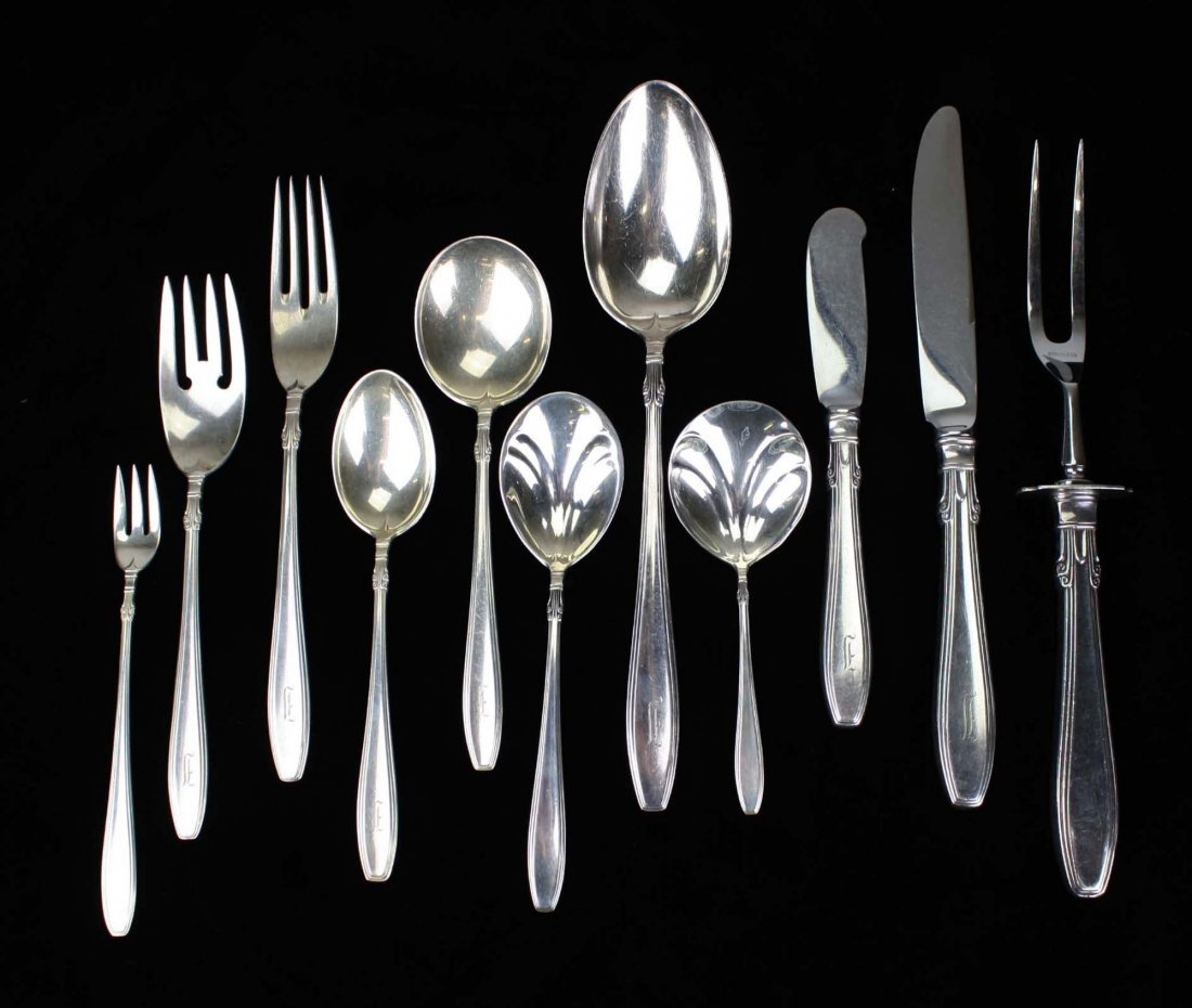 "Gorham ""Nocturne"" sterling silver flatware. Includes"