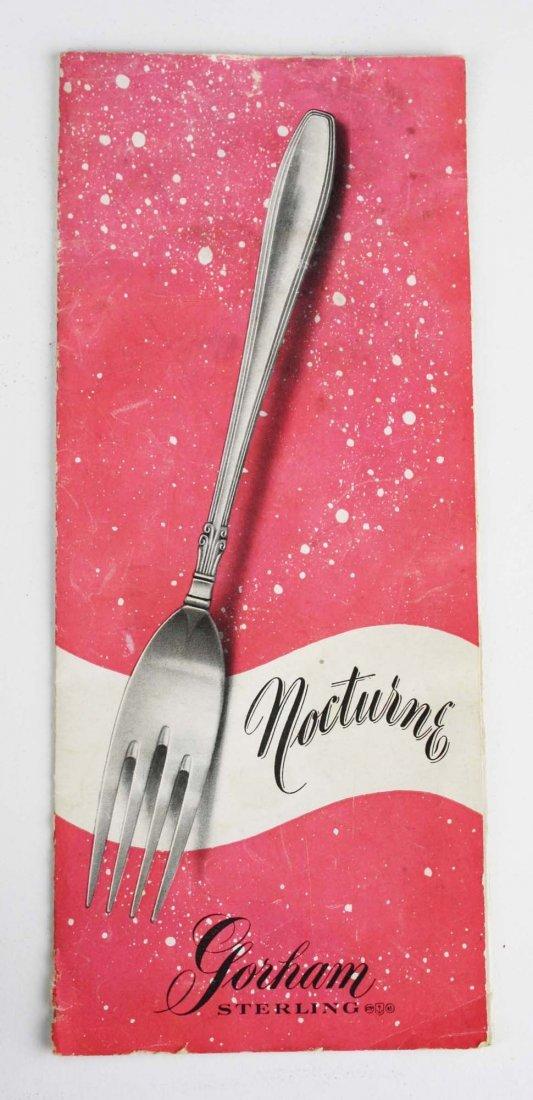 "Gorham ""Nocturne"" sterling silver flatware. Includes - 3"