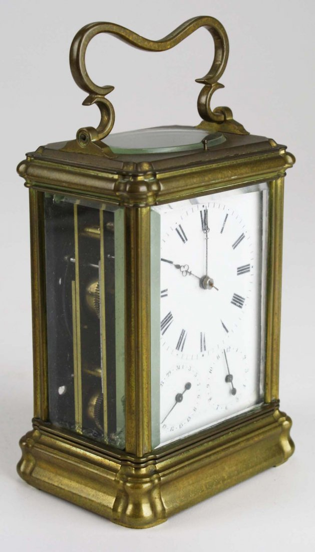 """late 19th c Swiss carriage clock signed """"Anker Hemming"""