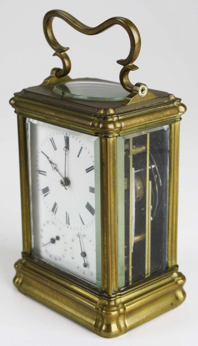"""late 19th c Swiss carriage clock signed """"Anker Hemming - 2"""