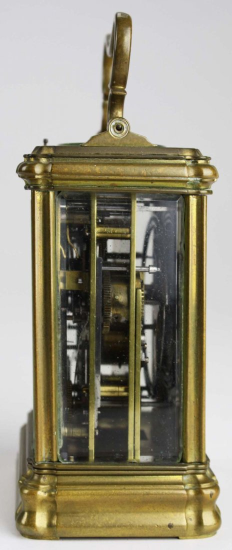 """late 19th c Swiss carriage clock signed """"Anker Hemming - 4"""