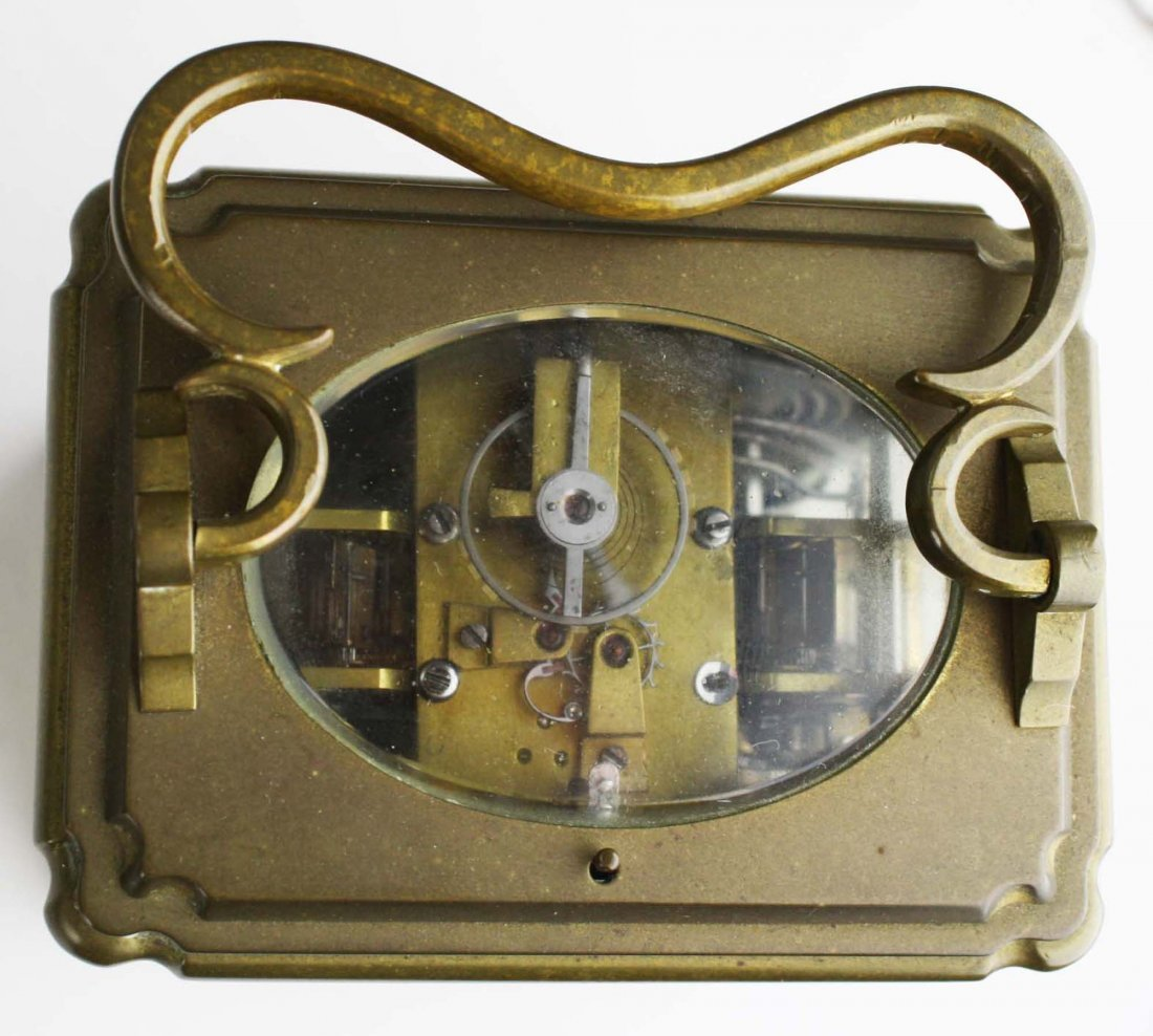 """late 19th c Swiss carriage clock signed """"Anker Hemming - 5"""