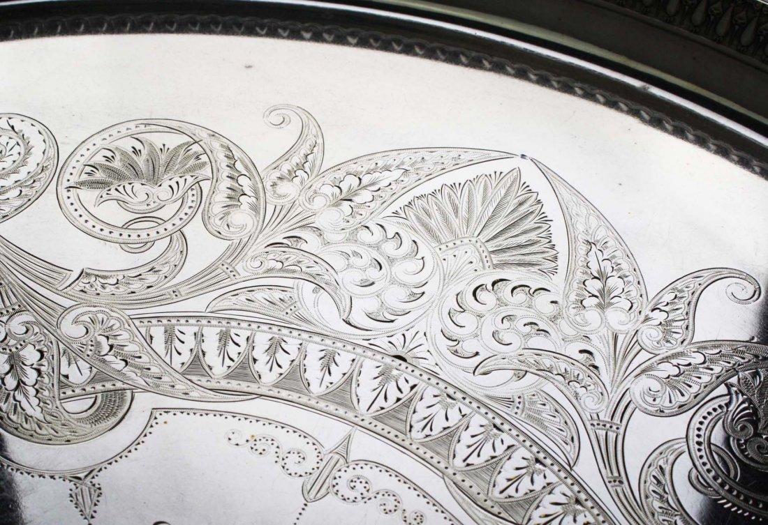 "Elaborate engraved Aesthetic Gorham Mfg. Co 26"" - 2"