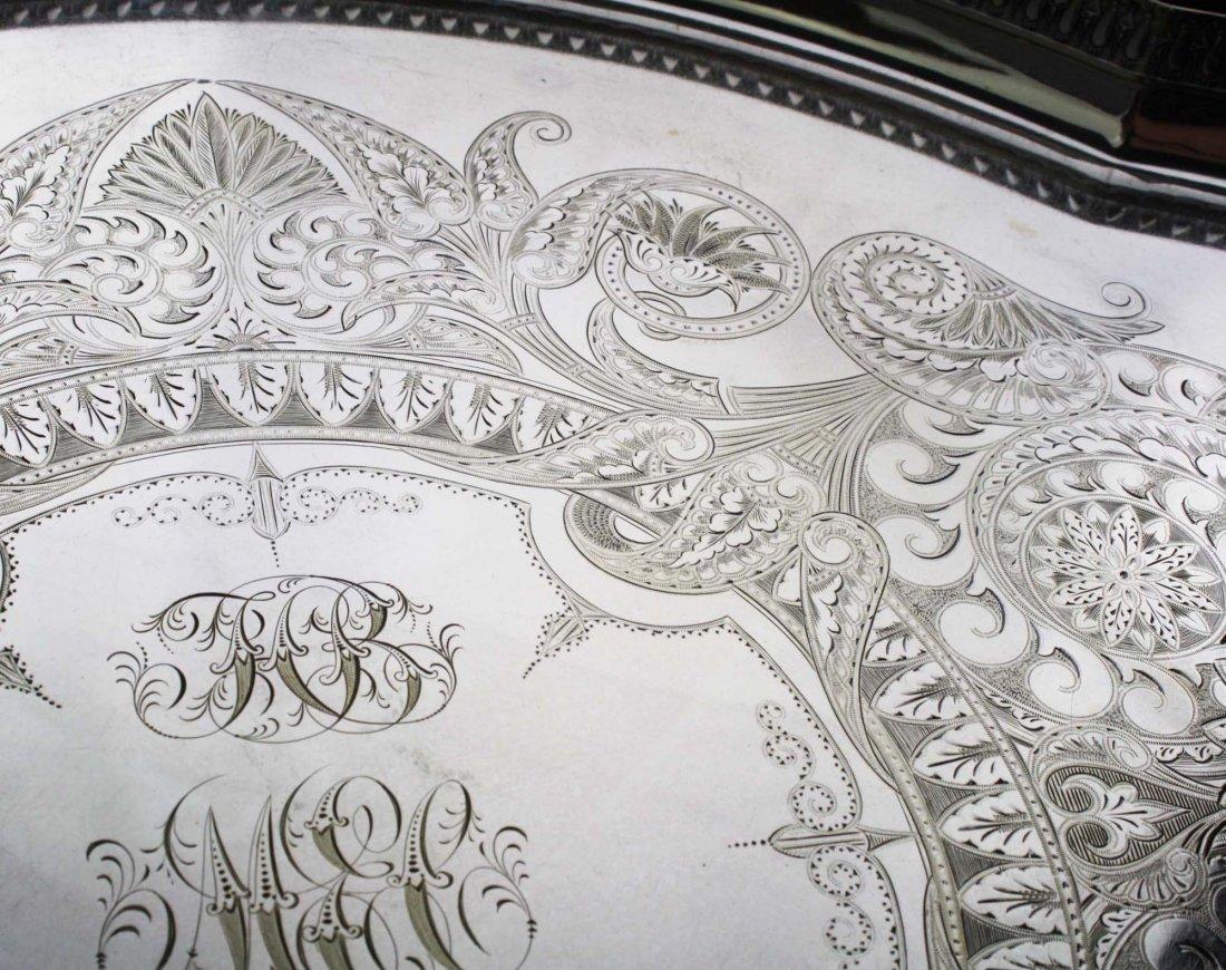 "Elaborate engraved Aesthetic Gorham Mfg. Co 26"" - 3"