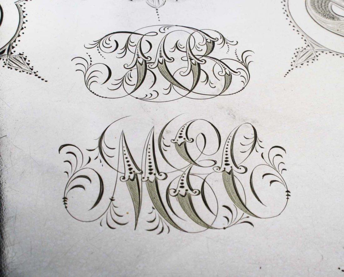 "Elaborate engraved Aesthetic Gorham Mfg. Co 26"" - 4"