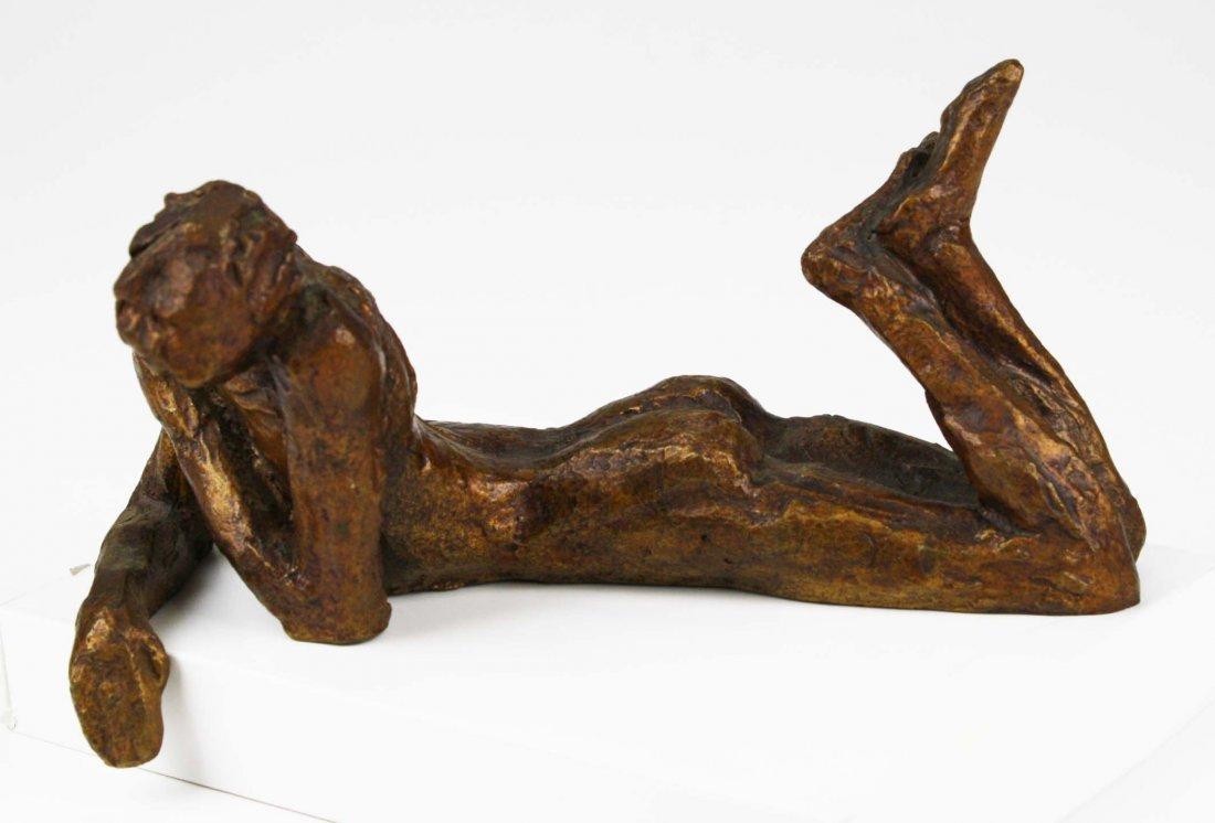 Victor Salmones (1937-1989) signed bronze of man in - 2