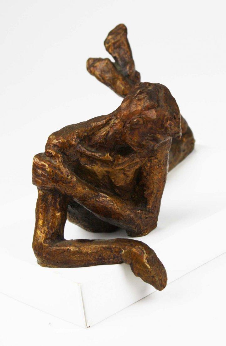 Victor Salmones (1937-1989) signed bronze of man in - 8