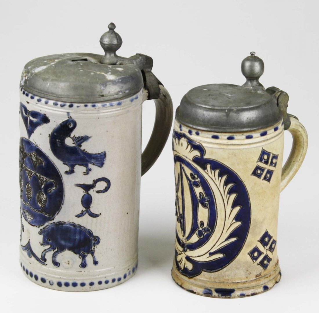 two late 18th c- early 19th c German Westerwald