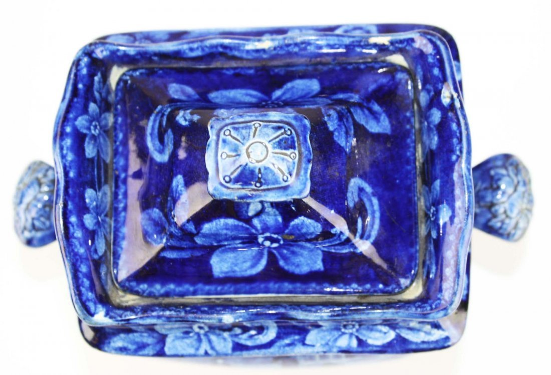 19th c. deep blue Staffordshire historical transferware - 3