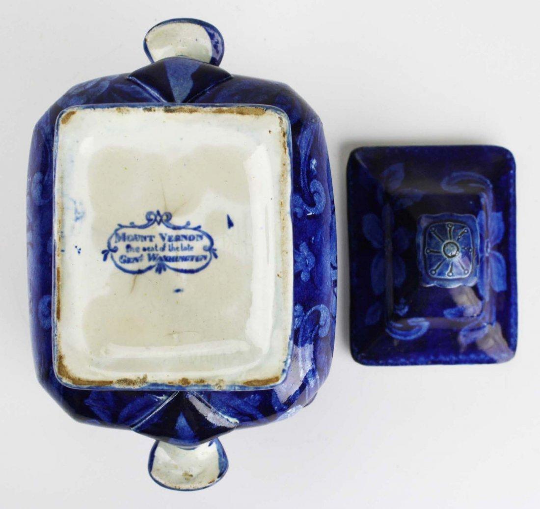19th c. deep blue Staffordshire historical transferware - 4