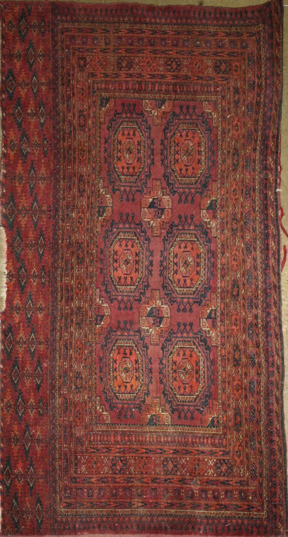 early 20th c Tekke Salor bag face with two rows of