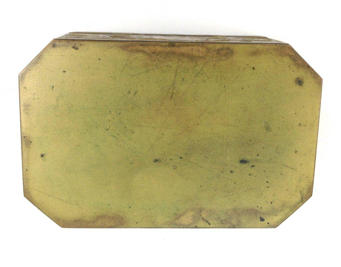 20th c.  fine gilt brass rectangular box with French - 3