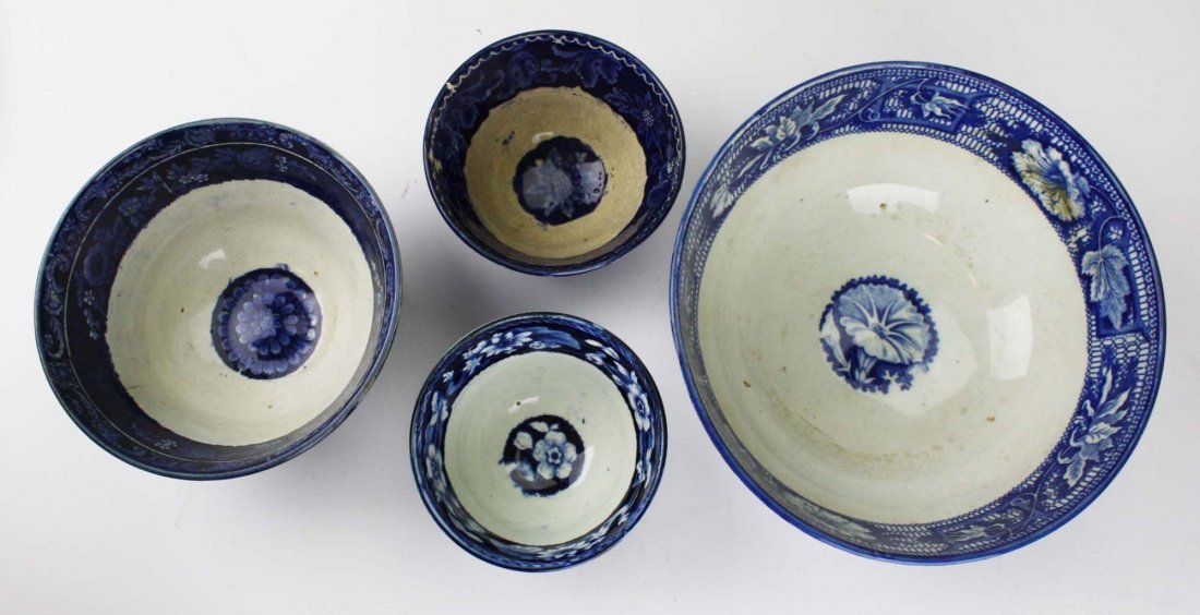 Two early 19th c. deep blue Staffordshire transferware - 2