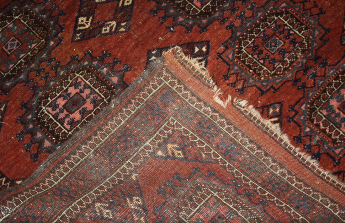 early 20th c Tekke Salor area rug with two rows of six - 2