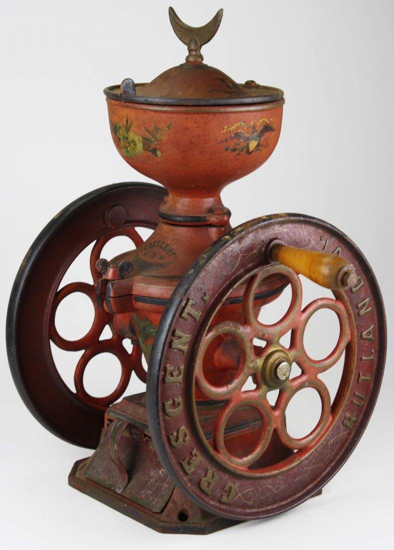 Crescent # 5 Rutland, VT cast iron coffee grinder,