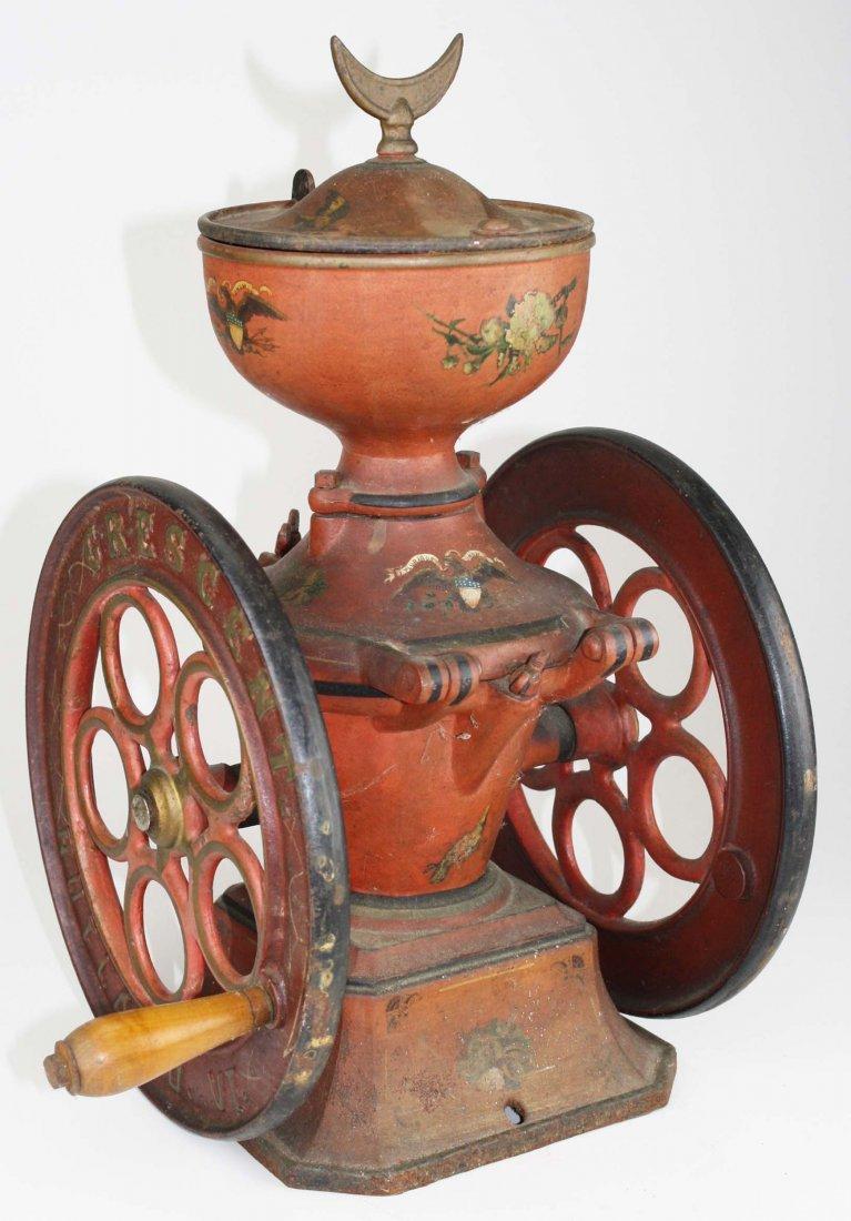 Crescent # 5 Rutland, VT cast iron coffee grinder, - 2