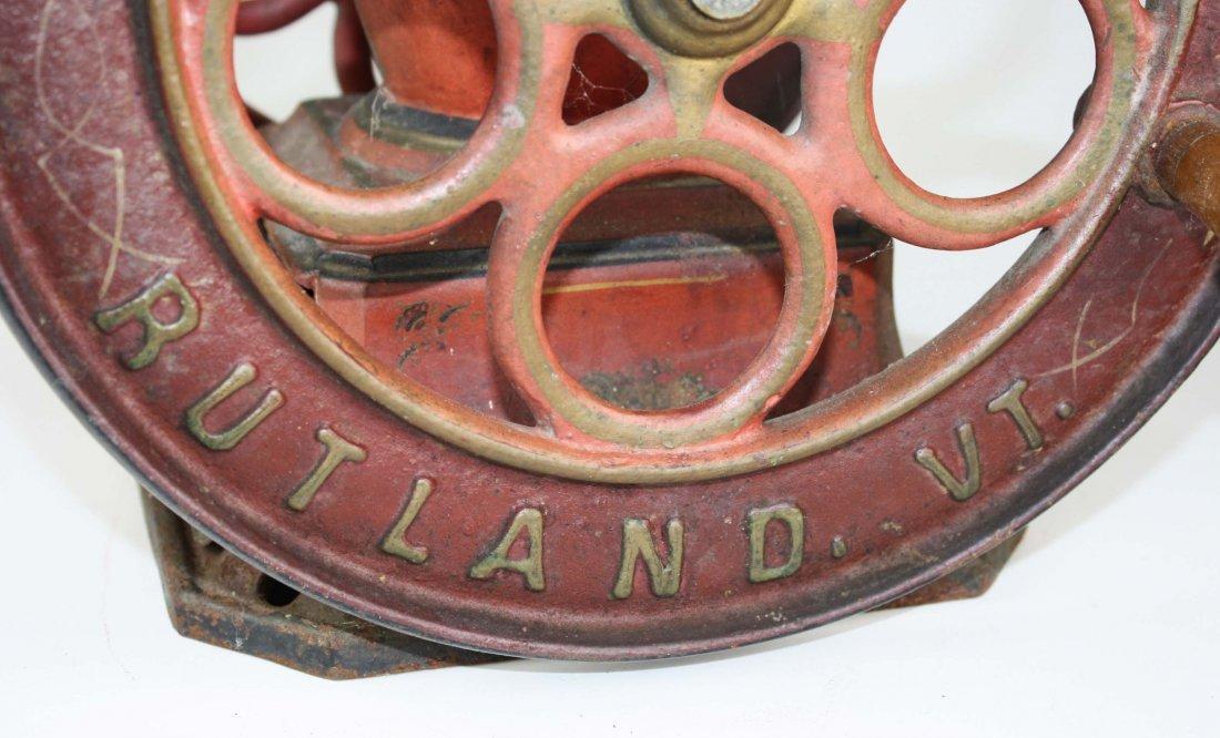 Crescent # 5 Rutland, VT cast iron coffee grinder, - 3