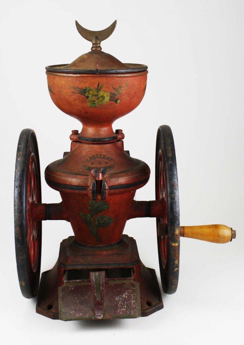 Crescent # 5 Rutland, VT cast iron coffee grinder, - 6