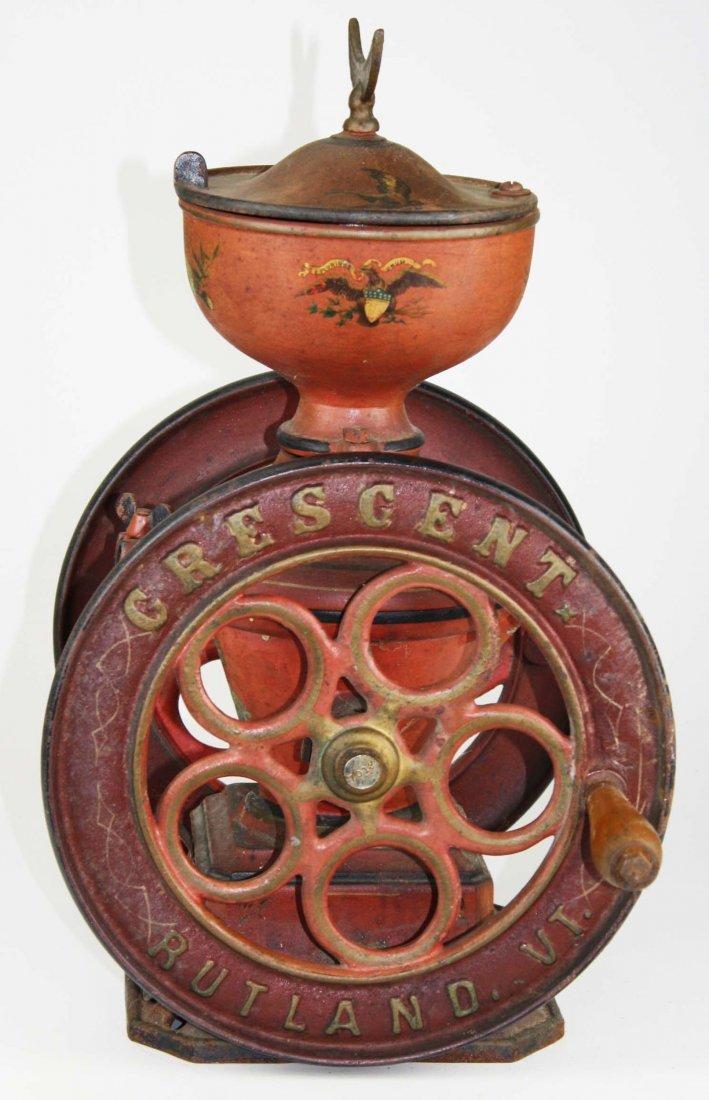 Crescent # 5 Rutland, VT cast iron coffee grinder, - 7