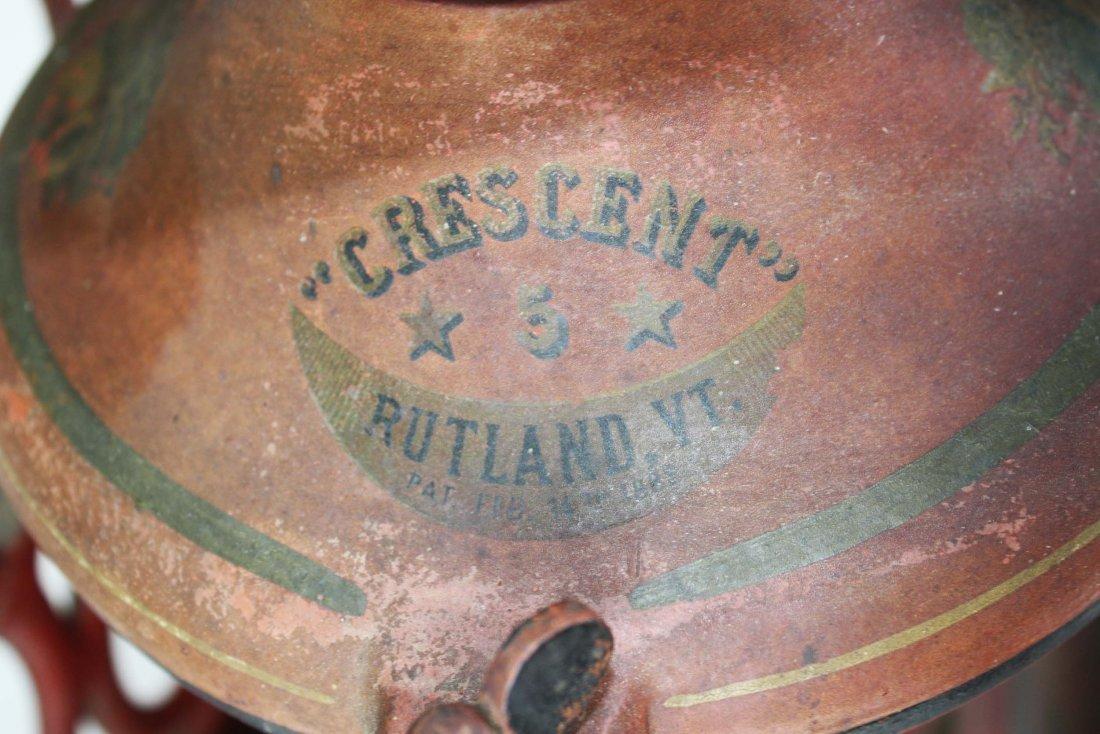 Crescent # 5 Rutland, VT cast iron coffee grinder, - 8