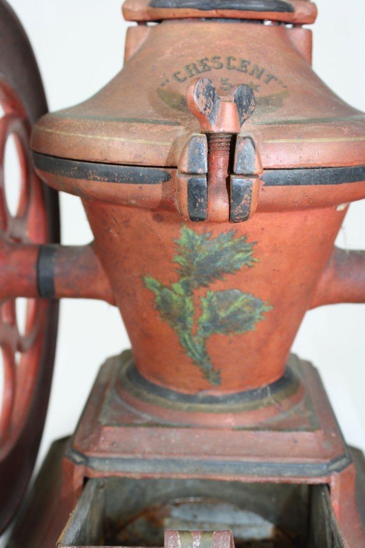 Crescent # 5 Rutland, VT cast iron coffee grinder, - 9