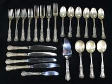 23 pcs Gorham Buttercup sterling silver  flatware incl