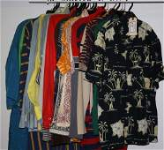 Lot of circa 1970s Mens shirts and robes approx 30
