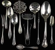 12 pcs assorted sterling silver flatware incl. Gorham