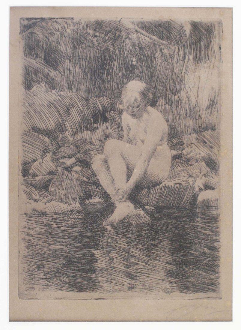 ca 1900 Anders Zorn (Swedish 1860- 1920) Dagmar- nude