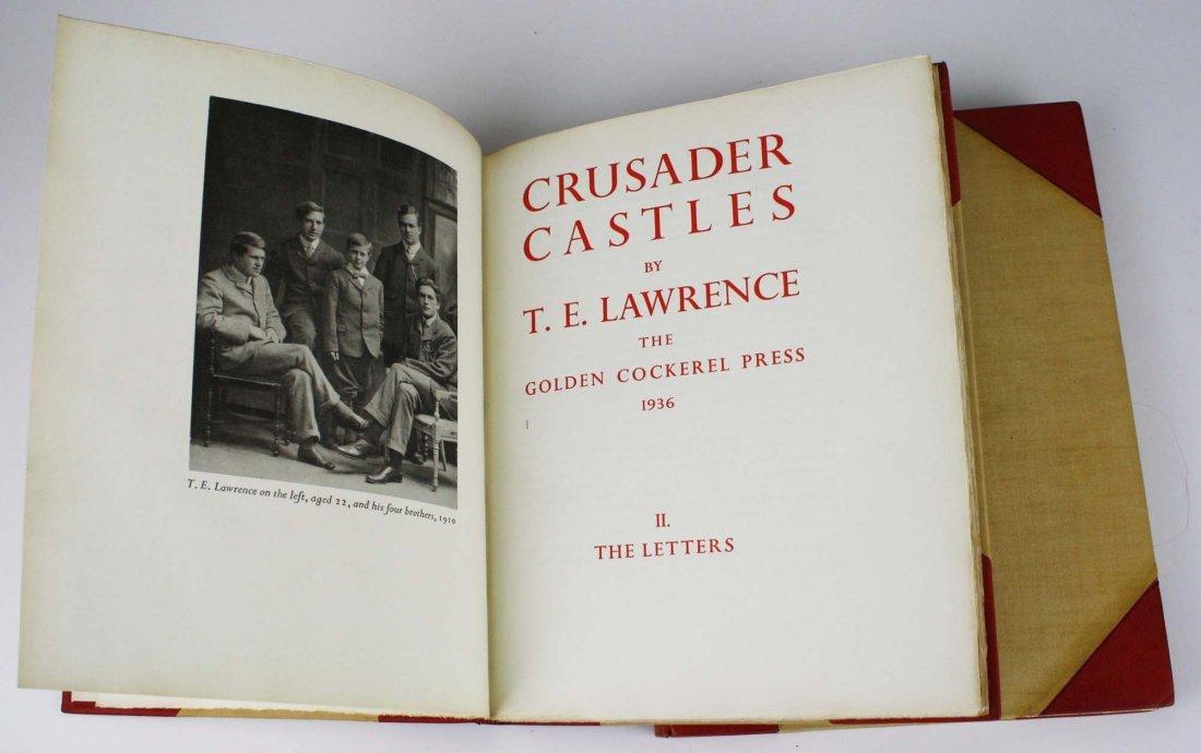 1936 T E Lawrence Crusader Castles (2 vols), Golden