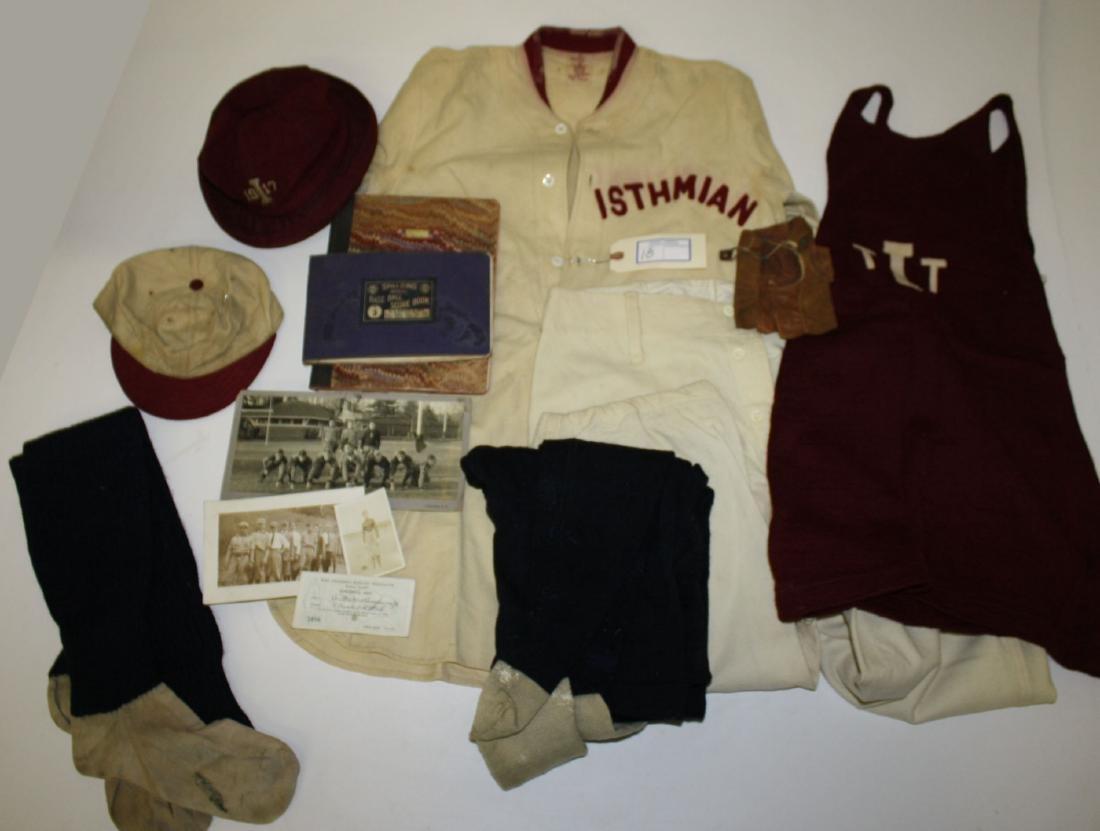 Circa 1914 Isthmian baseball uniform