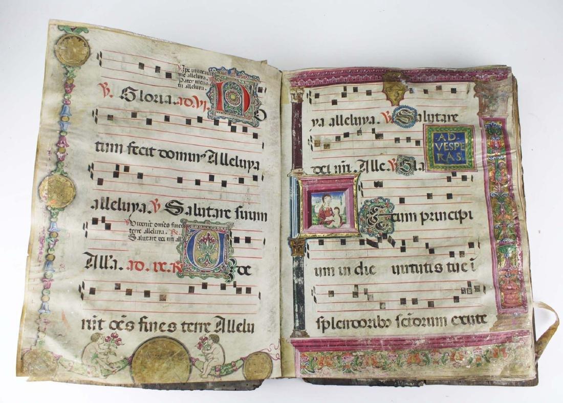14th c Medieval Italian baroque antiphony (songbook)