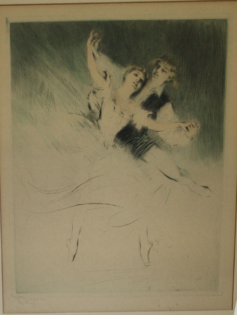 Troy Kinney (Am 1871-1938) Two Ballet dancers