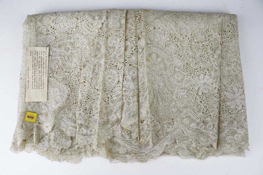 "18th c. lace panel ""Louis XV Flemish Lace Flounce"""