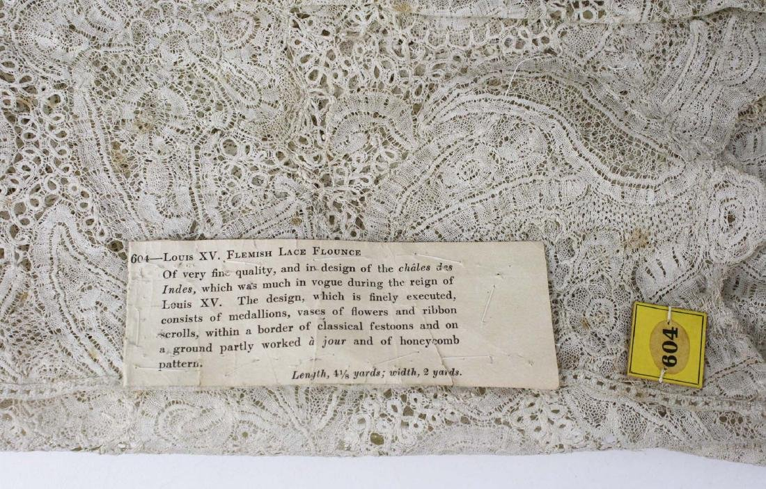 "18th c. lace panel ""Louis XV Flemish Lace Flounce"" - 2"