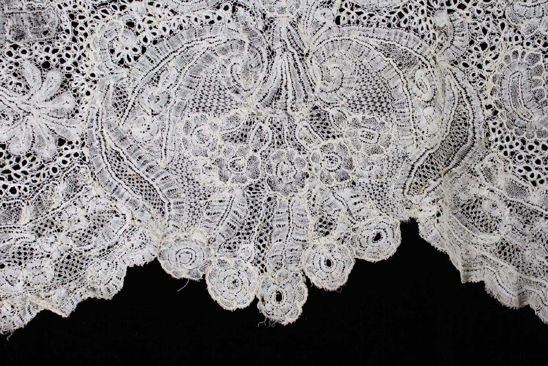 "18th c. lace panel ""Louis XV Flemish Lace Flounce"" - 4"