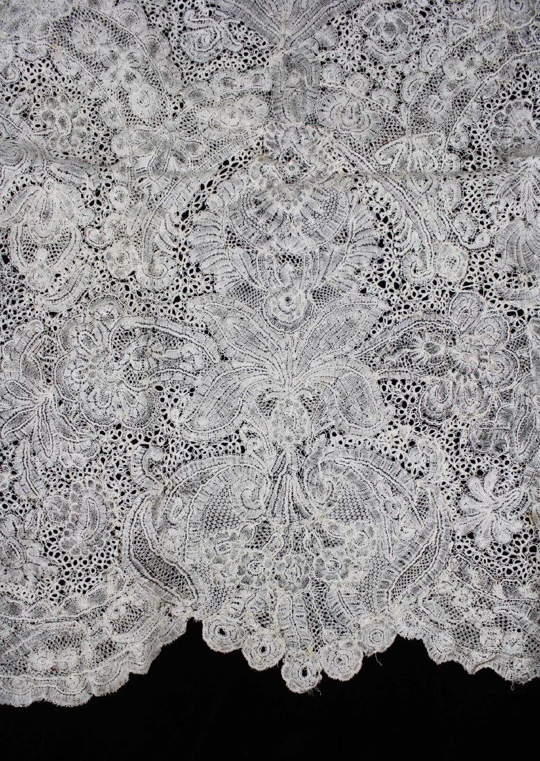 "18th c. lace panel ""Louis XV Flemish Lace Flounce"" - 5"