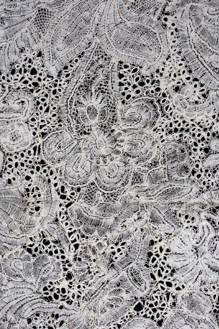 "18th c. lace panel ""Louis XV Flemish Lace Flounce"" - 7"