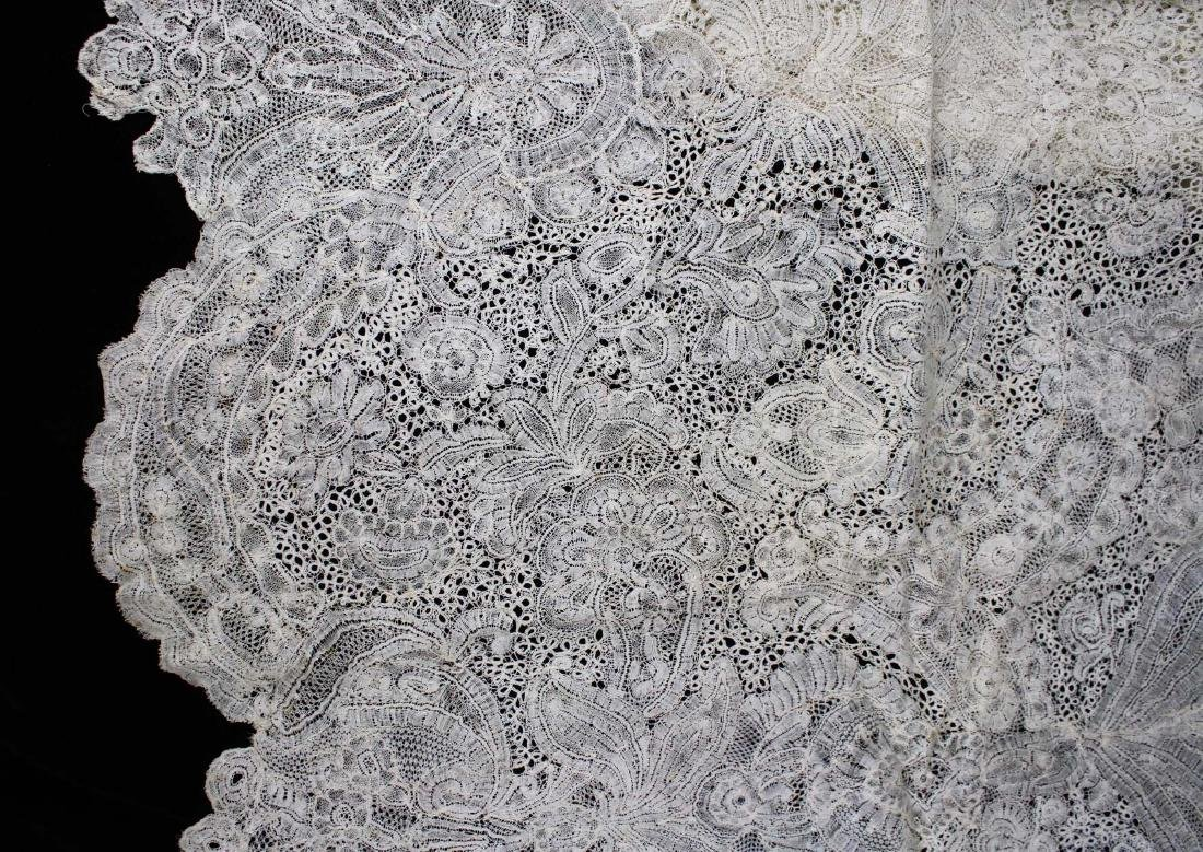 "18th c. lace panel ""Louis XV Flemish Lace Flounce"" - 8"
