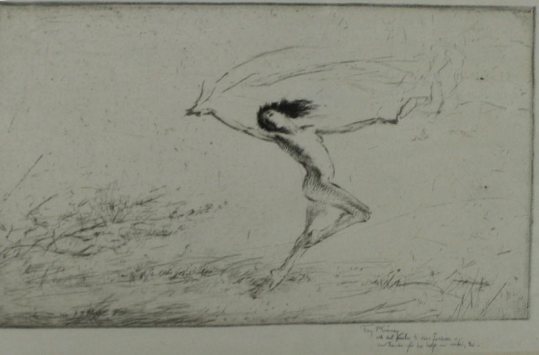 Troy Kinney (Am 1871-1938) Autumn Leaves