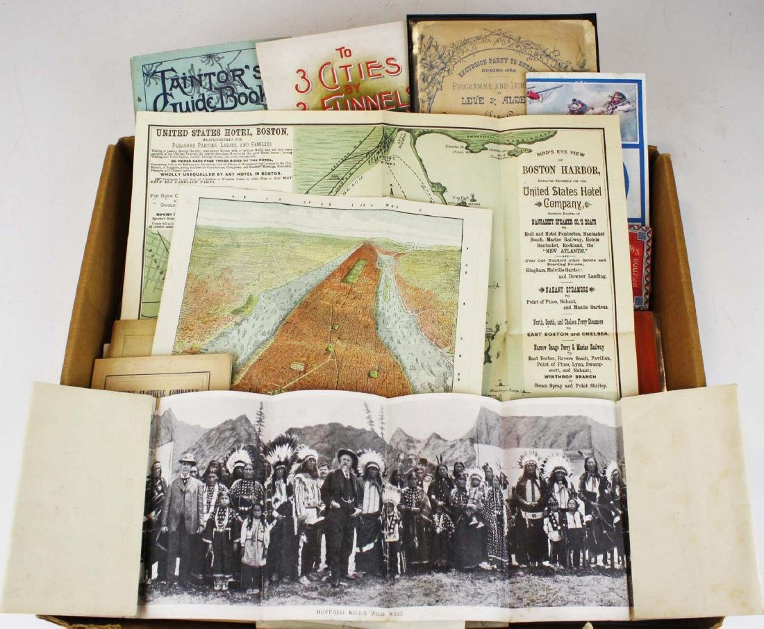late 19th- 20th  c travel pamphlets incl fold out maps