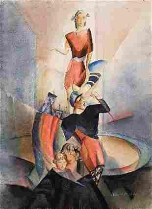 3:Albert Muller (German , 1884-1963) Sailor And Woman