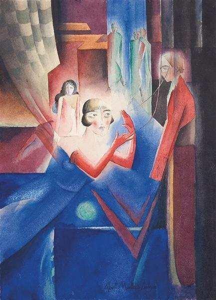 4: Albert Muller (German ,1884-1963) Marionetten