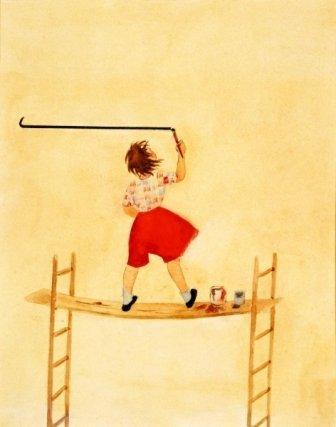 16:Ann Neumann (1906-1955) Girl with Ladder