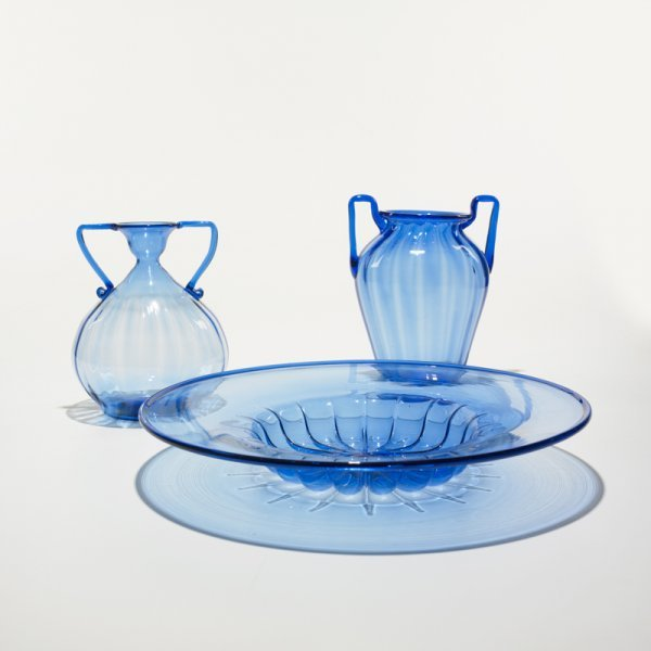 606: Napoleone Martinuzzi pair of vases and bowl