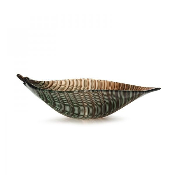 635: Tyra Lundgren Filigrana leaf bowl, model 2642