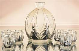 French Art Deco Cordial Set
